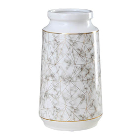 White Marbled Vase