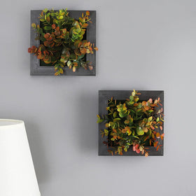 Artificial Eucalyptus Leaf Wall Planters