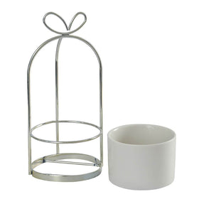 Bow Desk Planter Pot, Silver