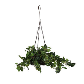 Flowing Artificial Pothos Plant in Basket