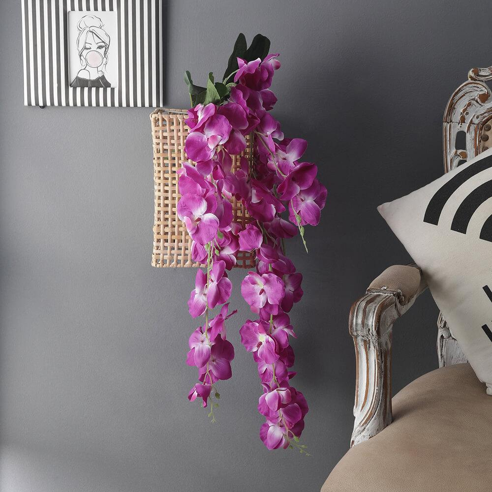 Flowing Artificial Orchid Flower Bunch, Purple