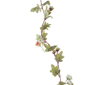 Set of Artificial Dry Rose Decorative Vines, Peach