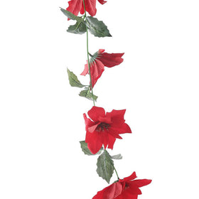 Set of Artificial Poinsettia Decorative Vines