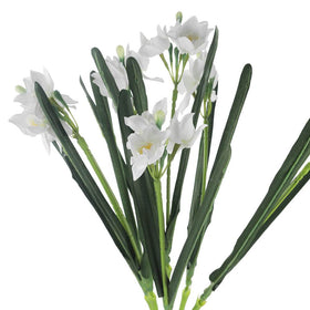 White Artificial Daffodil Flower Bunch