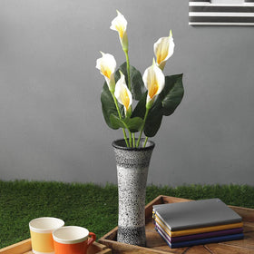 Artificial Calla Lily Flower Bunch, Cream Yellow