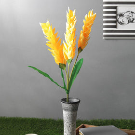 Tropical Artificial Ginger flower Stick, Yellow