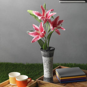 Pink Artificial Lily Flower Stick