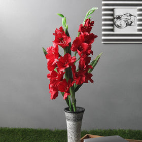 Set of Artificial Red Gledila Flower Sticks