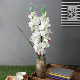 Set of Artificial White Gledila Flower Sticks