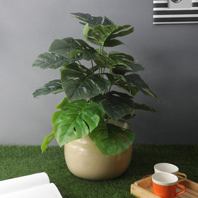Artificial Split Leaf Philodendron Floor Plant (without pot)