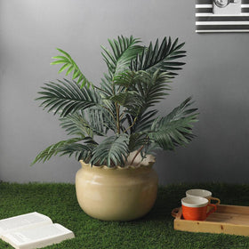Lush Artificial Areca Palm Floor Plant (without pot)