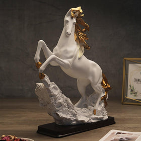 White Mustang Sculpture
