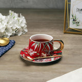 Hachidori Tea Cup Set, Vibrant Red