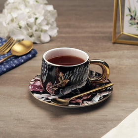 Hachidori Tea Cup Set, Midnight Black