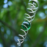 Twisted Orb Wind Spinner, Single (Bottle Green)