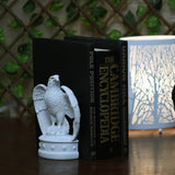 Herald Eagle Book Ends-White