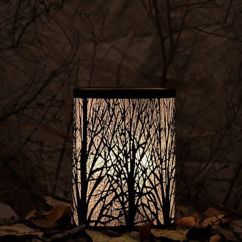 Enchanted Forest Lamp (Short Oval, Black)