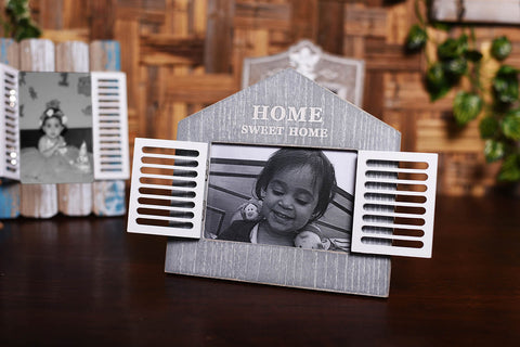 'Home Sweet Home' Shuttered Photo Frame