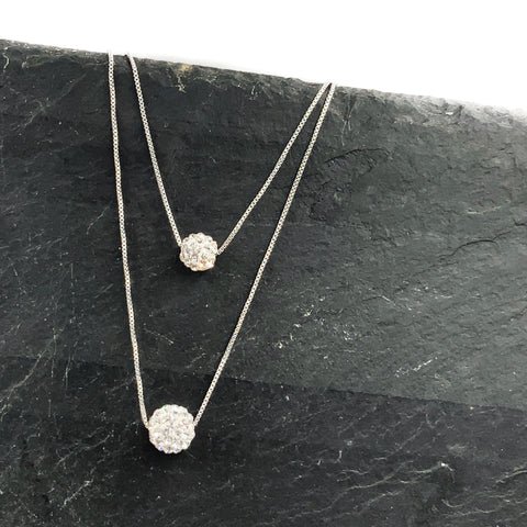 Starlight Sterling Silver Double Necklace