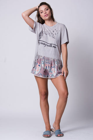 Fly Away With Me Fringe Tee