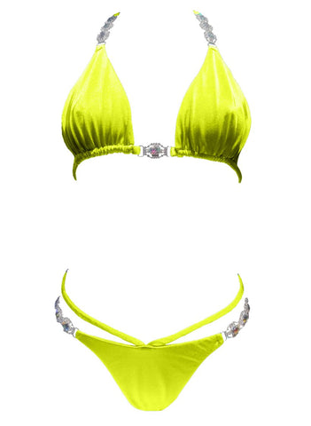 Shanel Triangle Top & Strappy Tango Bottom - Yellow