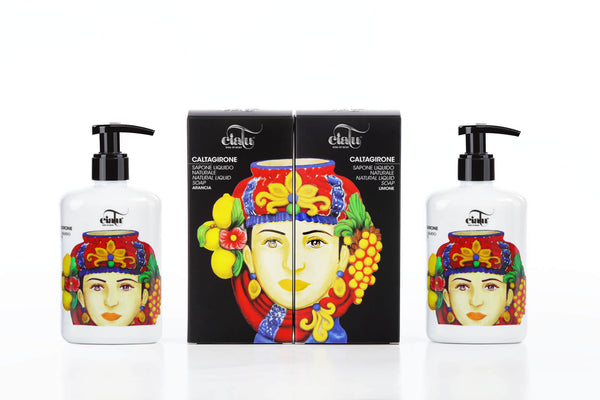 Ciatu Caltagirone Natural Liquid Soap Packaging Composition Female