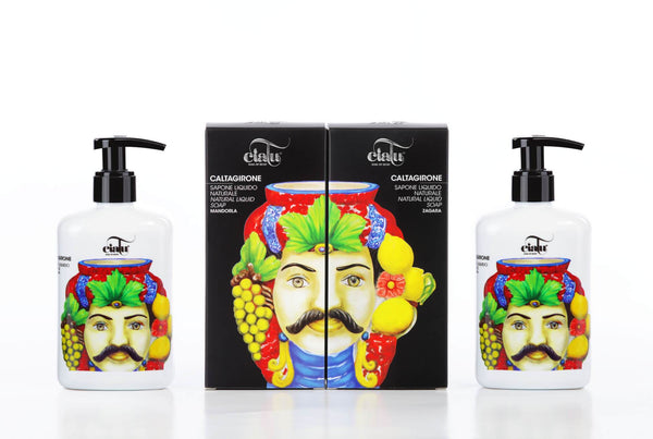 Ciatu Caltagirone Natural Liquid Soap Packaging Composition