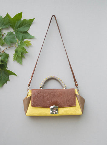 Caterinaeffe Trapezoid Bag Yellow 1