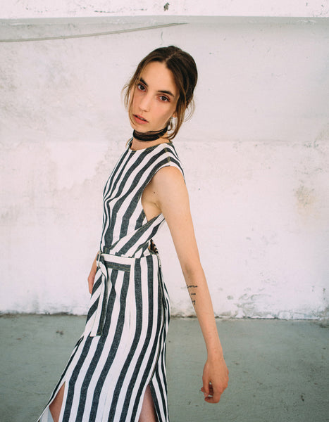 Cristina Ruggiero Striped Tube Dress 5