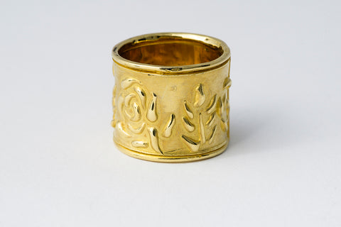 Delve Efflorescence Band Ring Gold 1