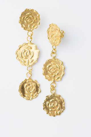 Delve Efflorescence Earrings Gold 1