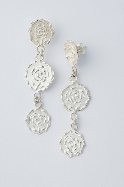 Delve Efflorescence Earrings Silver 1