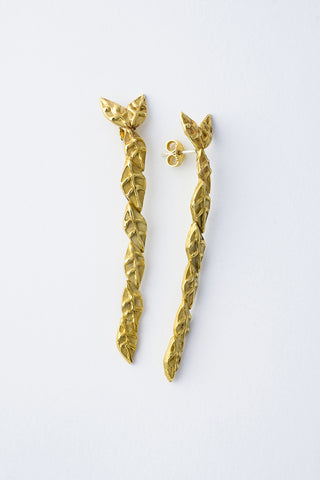 Delve Laurel Earrings Gold 1