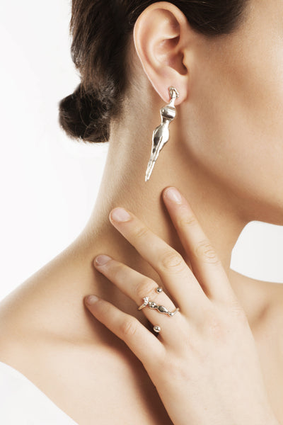 Delve Mademoiselle Earrings and Ring Silver 1