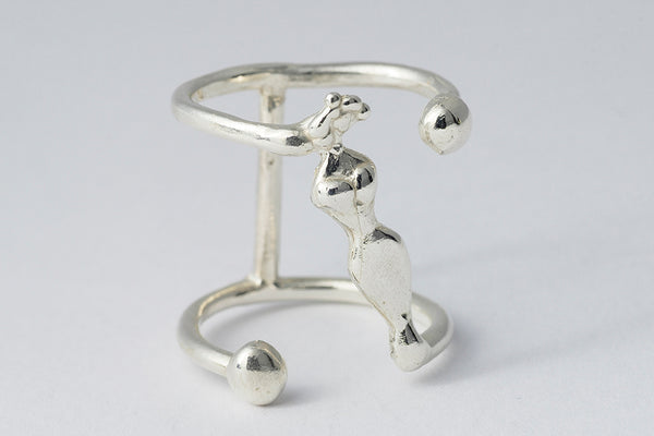 Delve Mademoiselle Ring Silver 1