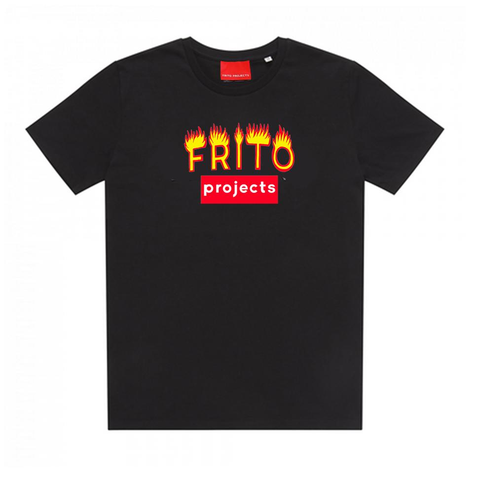 Frito Projects Logo Black T-Shirt 1