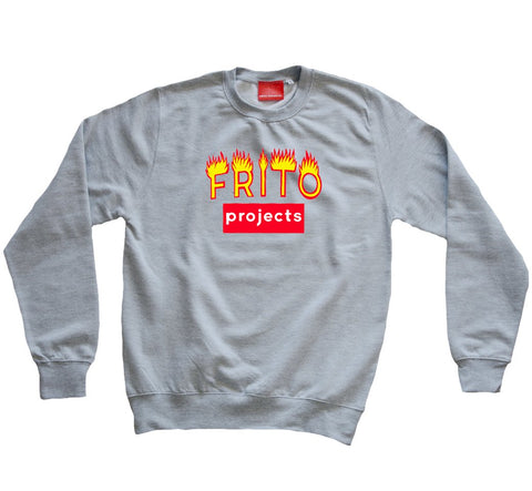 Frito Projects Logo Grey Sweatshirt 1