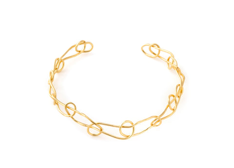 Giulia Barela Knot Light Choker Gold 1