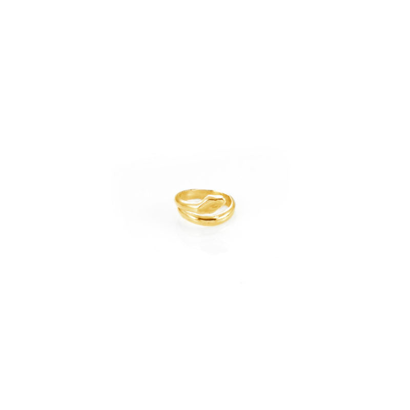 Giulia Barela Coil Small Ring Gold Plated Bronze 1