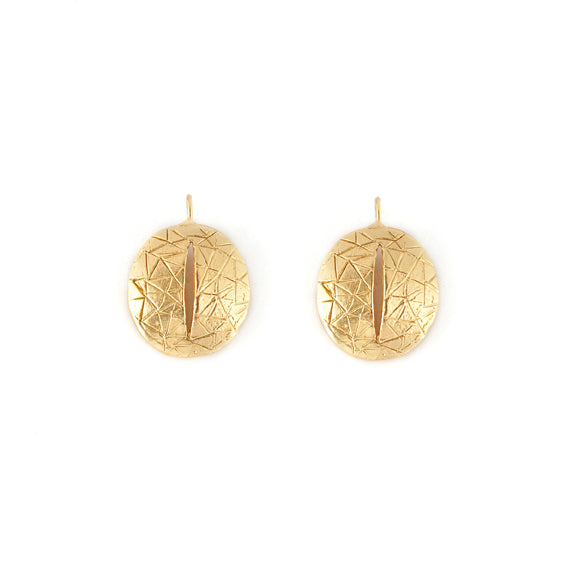 Giulia Barela Eye Earrings Gold 1