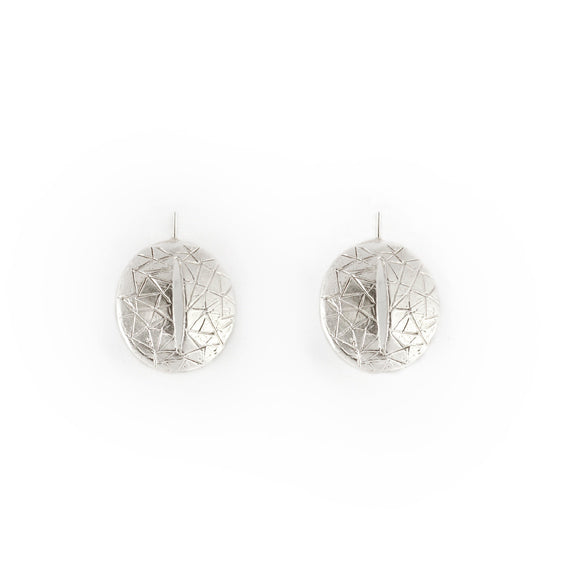Giulia Barela Eye Earrings Silver 1