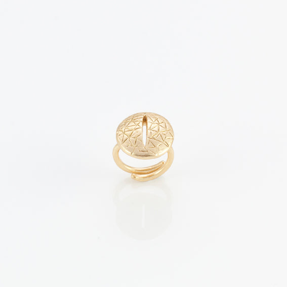 Giulia Barela Eye Ring Gold Plated Bronze 1