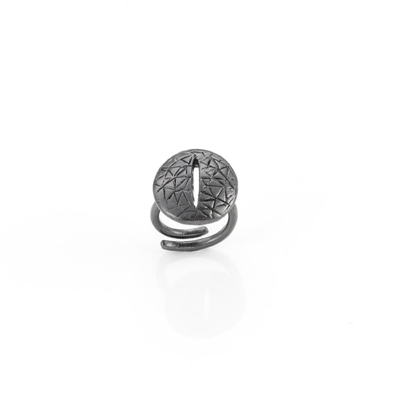 Giulia Barela Eye Ring Silver 925 Black Rhodium 1
