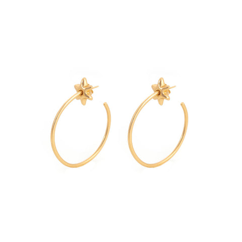 Giulia Barela Hoop Stars Earrings Gold 1