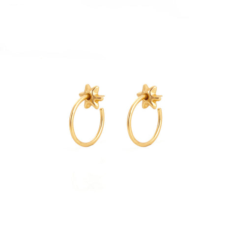 Giulia Barela Hoop Stars Small Earrings Gold 1