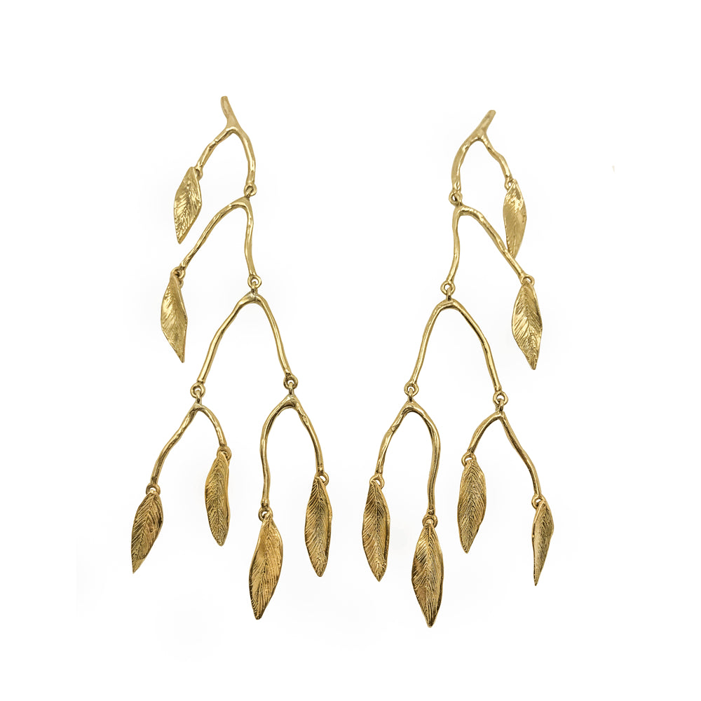 Giulia Barela Mobile Leaves Large Earrings 1