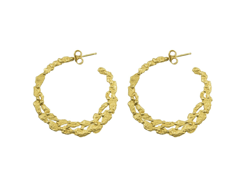 Giulia Barela Pebbles Hoop Earrings 1