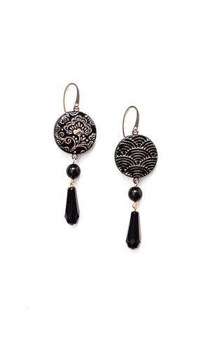 Graziella Cei Round Japanese Ceramic Earrings 2 1