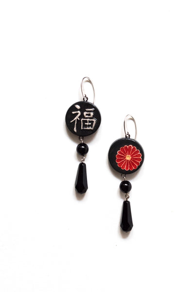 Graziella Cei Round Japanese Ceramic Earrings 3 1