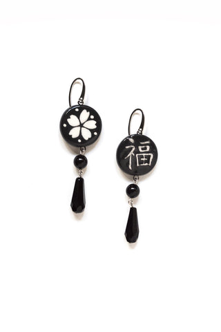 Graziella Cei Round Japanese Ceramic Earrings 4 1
